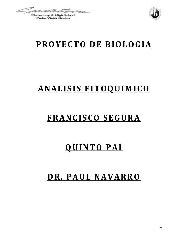 Analisis Fitoquimico de la Menta