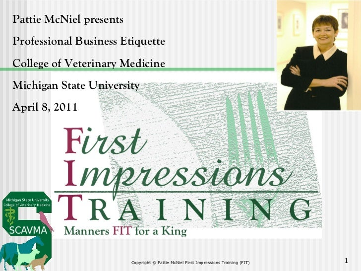 First Impressions Training (FIT) Professional Business Etiquette workshop 2011