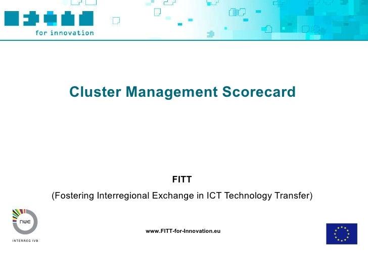 Fitt Toolbox Cluster Management Scorecard Final
