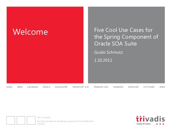 Five Cool Use Cases for the Spring Component of the SOA Suite 11g