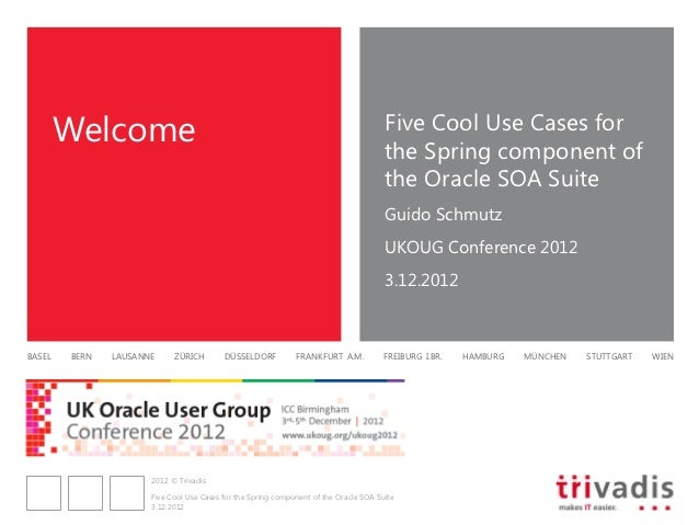 Five Cool Use Cases for the Spring Component in Oracle SOA Suite