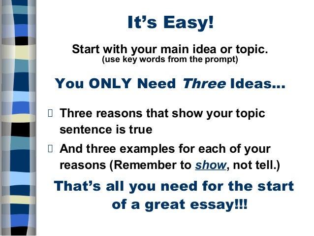 five paragraph essay prompt