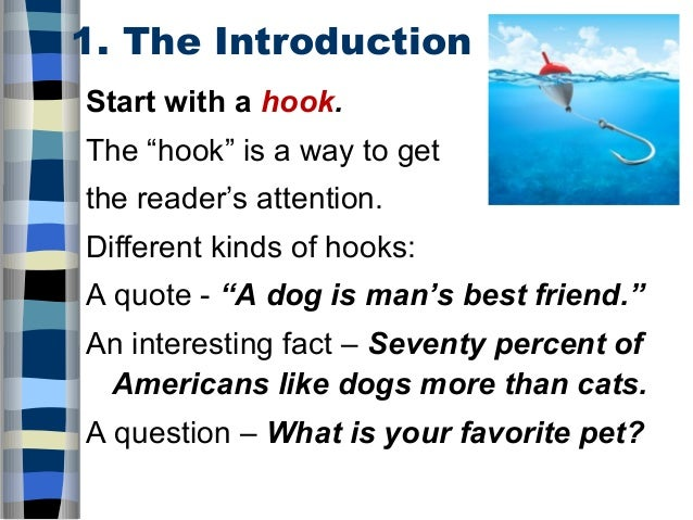 ways to start an introduction in an essay Four methods for developing an introduction if you're writing a first-person essay about ways parents can promote good reading habits in their children.