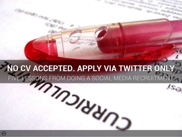 Five things we learned from a Twitter only recruitment