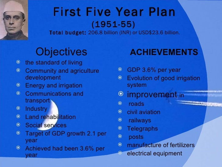 indias first five year plan essay The first five year plan had more failures than successes successes being the construction of magnitogorsk impressive gains were obtained in several area of heavy industry and there was a rapid increase in urbanisation in areas such as moscow and leningrad as well as russia.