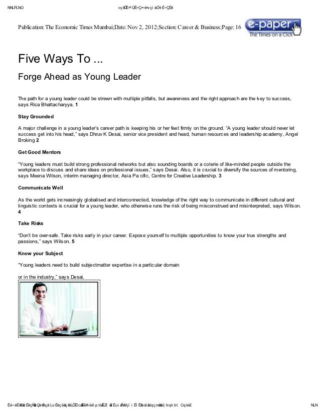 Five ways to...forge ahead as young leader