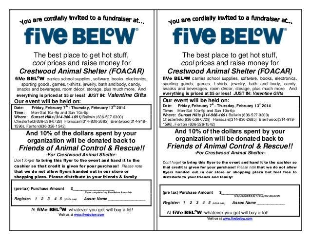 Five below event