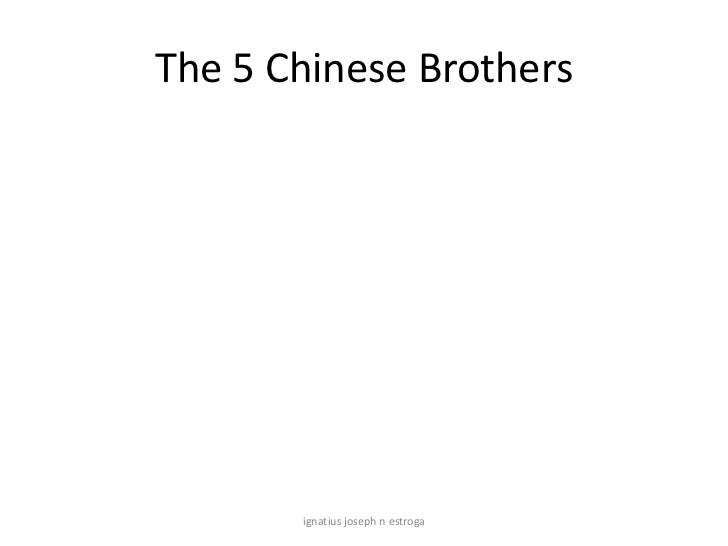 Five chinese brothers ppt.china
