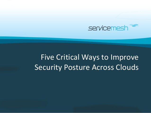 Five Critical Ways to Improve Security Posture Across Clouds