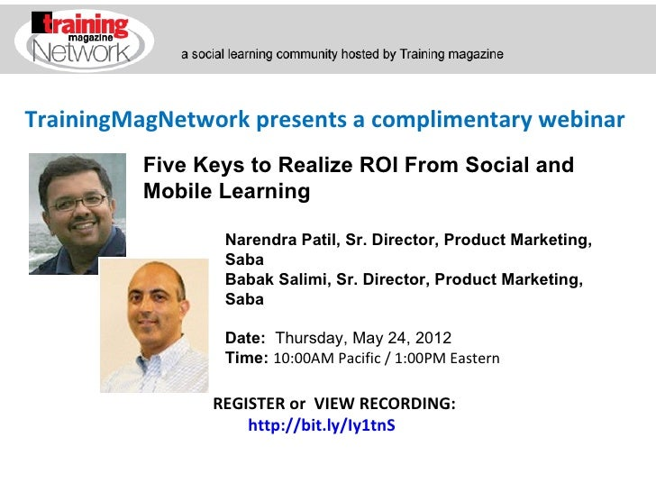 Five Keys to Realize ROI From Social and Mobile Learning with Patil and Salimi