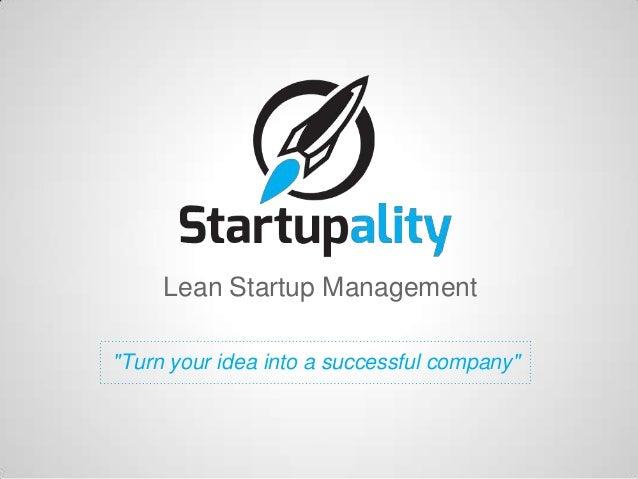 Startupality, 5 min pitch