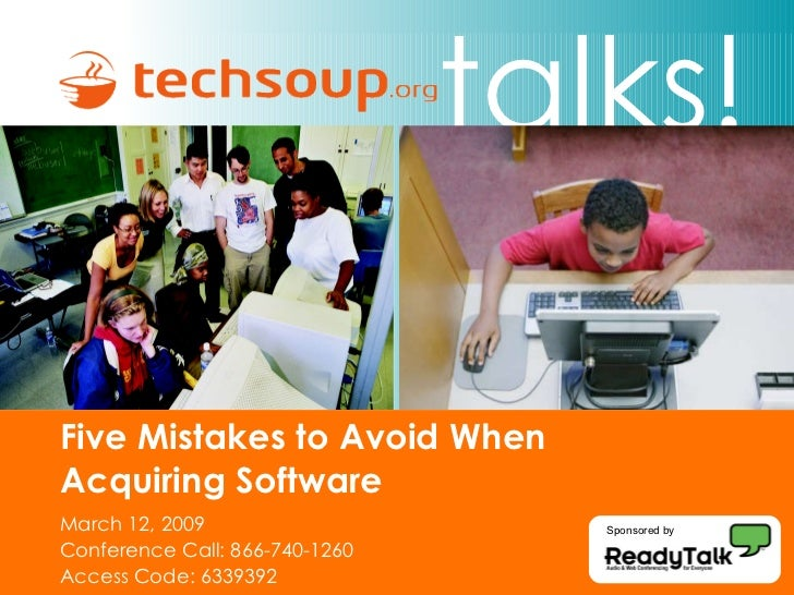 Five Mistakes To Avoid When Acquiring Software