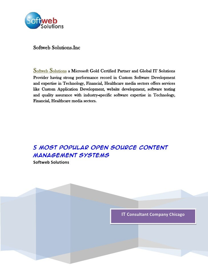 Softweb Solutions.IncSoftweb Solutions a Microsoft Gold Certified Partner and Global IT Solutions Provider having strong p...