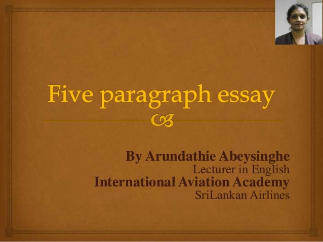 English works five paragraph essay