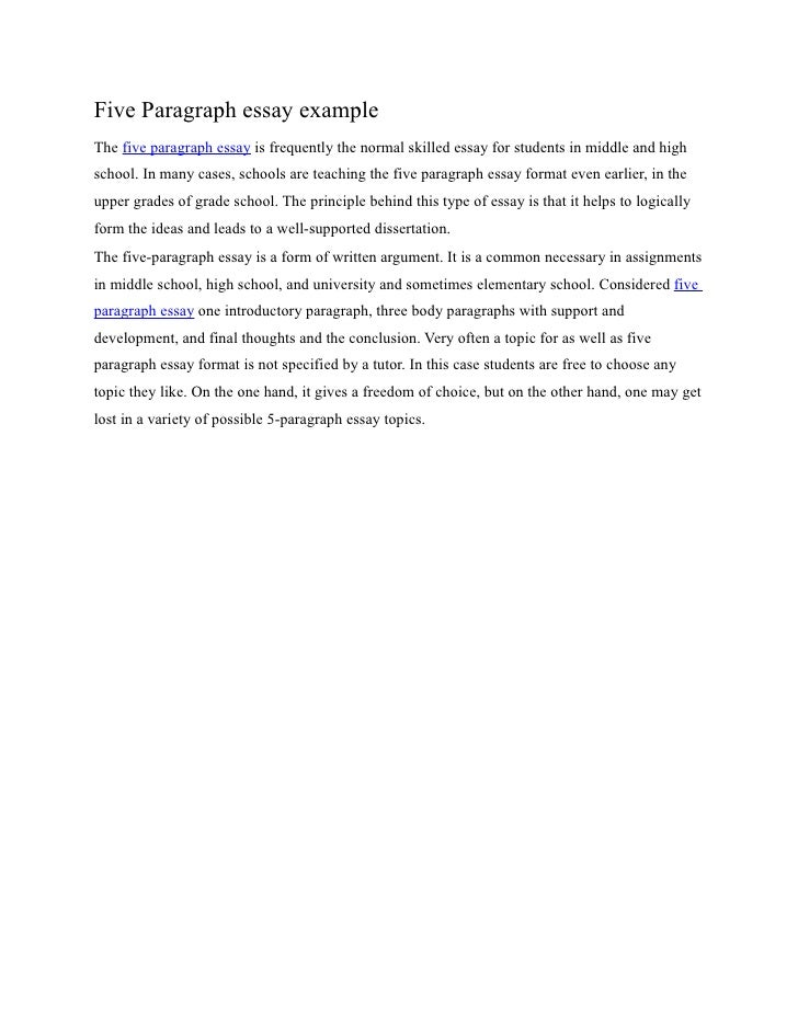 Five paragraph essay example