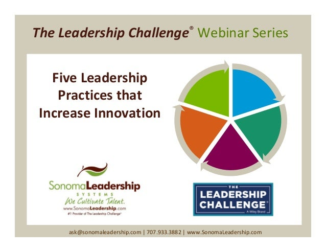 Slides from: Five Leadership Practices that Increase Innovation