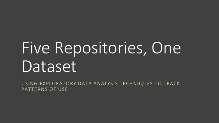 Five repositories, one dataset
