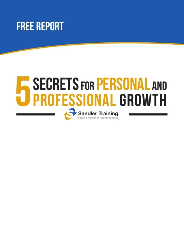 FREE REPORT  5  secrets for personal and professional growth
