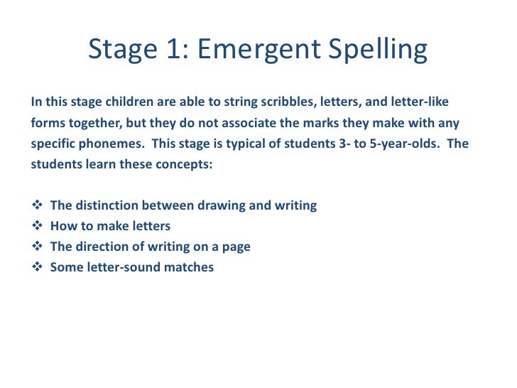spelling development essay