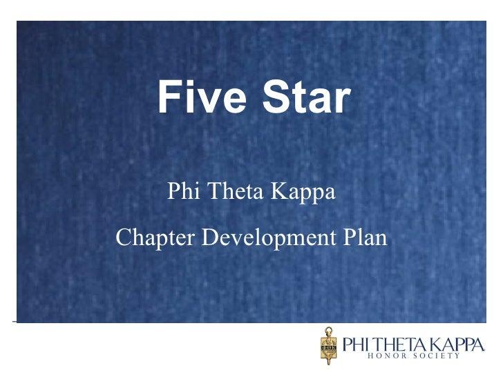 Five Star Phi Theta Kappa Chapter Development Plan