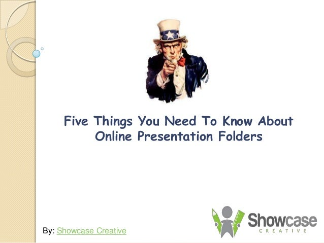 Five Things You Need To Know About Online Presentation Folders