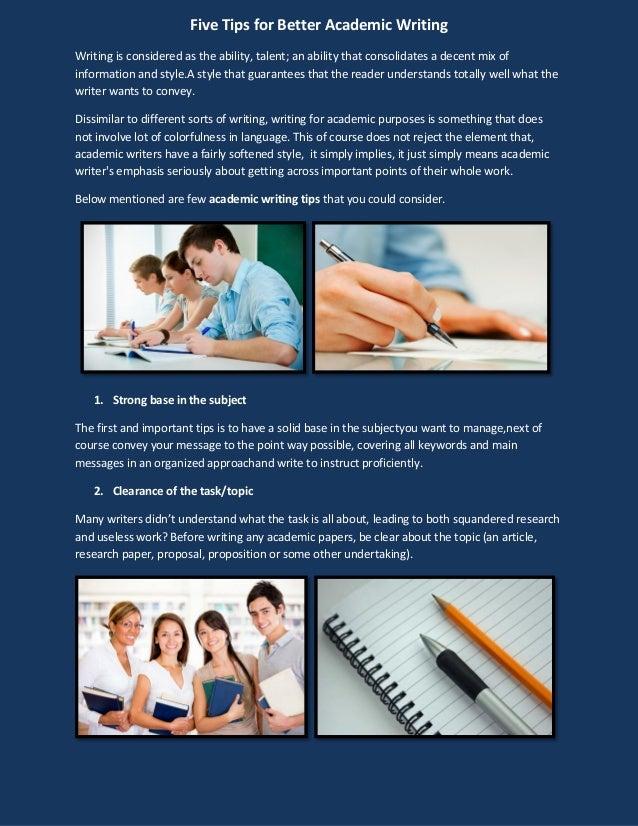 Tips on academic writing