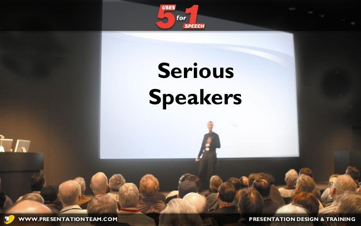 Five Uses for One Speech
