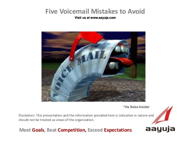 Five Voicemail Mistakes to Avoid
