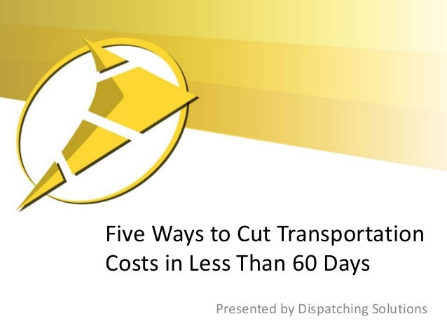 Five ways to cut transportation costs
