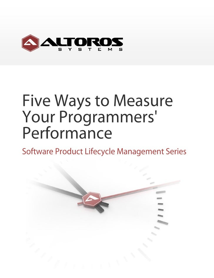 Five Ways To Measure Your Programmers Performance