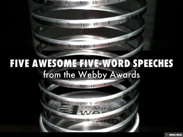 Five-Word Speeches