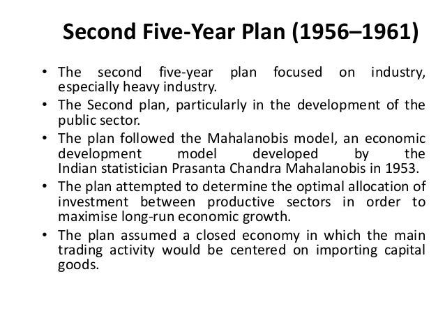 five year plans in india summary pdf