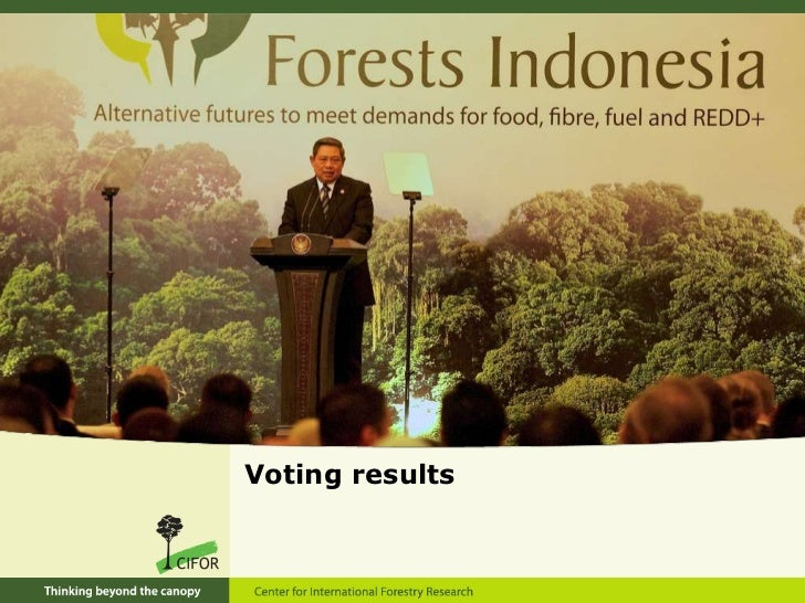 Forests Indonesia Conference: voting results