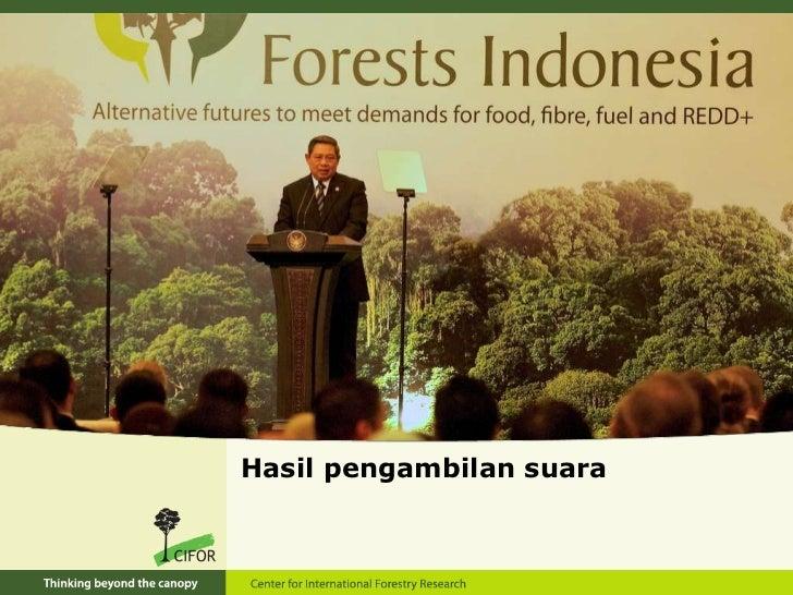 Hasil pengambilan suara - Forests Indonesia