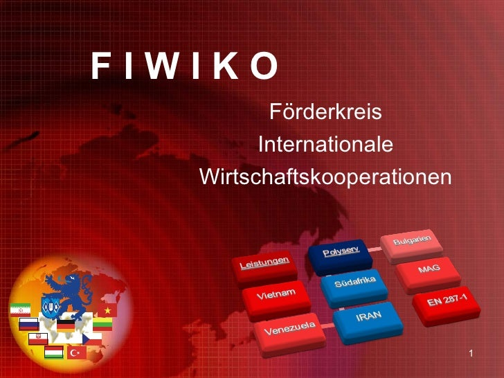 F I W I K O   Förderkreis Internationale Wirtschaftskooperationen