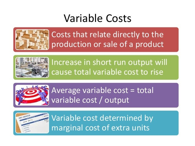 Variable Cost Examples