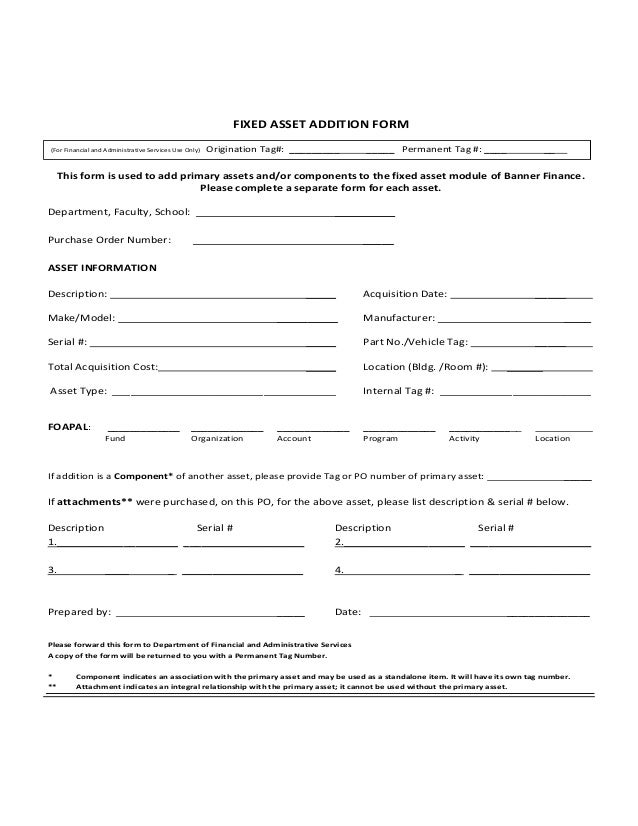 capital asset requisition template  asset acquisition form - Kope.impulsar.co