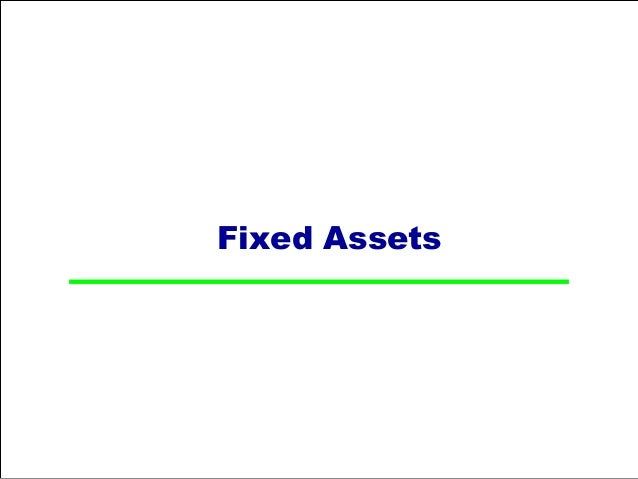 Accounting Entries For Fixed Assets