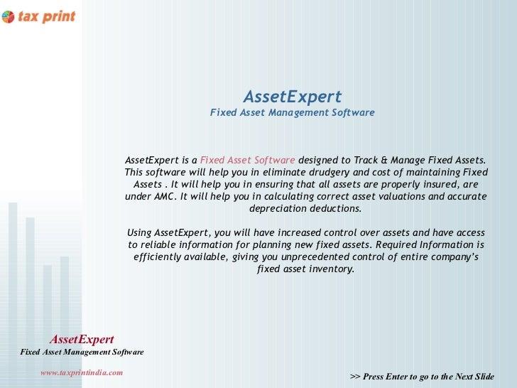 AssetExpert                                                Fixed Asset Management Software                             Ass...