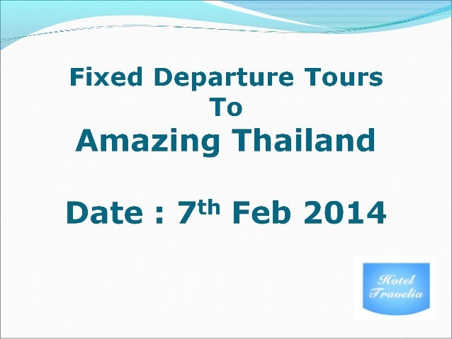 Fixed departure Tours To Thailand