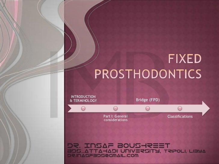Fixed prosthodontics lesson 6