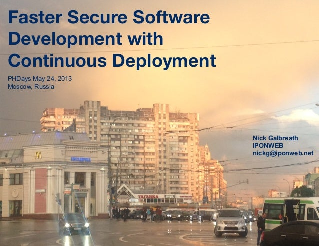 Faster Secure SoftwareDevelopment with 