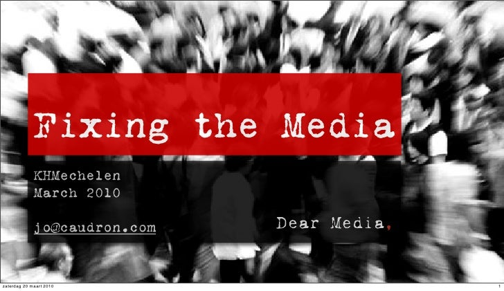 Fixing The Media Kh Mechelen