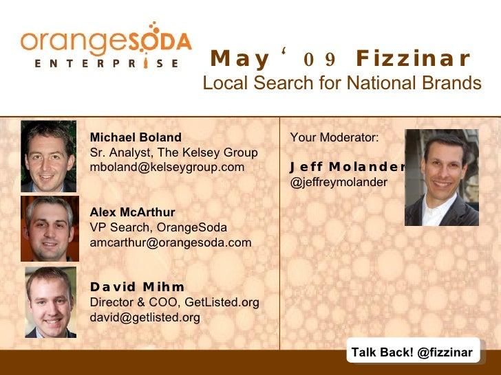 OrangeSoda Enterprise - Fizzinar May 09
