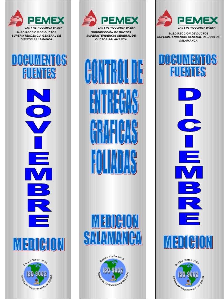 SUBDIRECCIÓN DE DUCTOS SUPERINTENDENCIA GENERAL DE DUCTOS SALAMANCA SUBDIRECCIÓN DE DUCTOS SUPERINTENDENCIA GENERAL DE DUC...