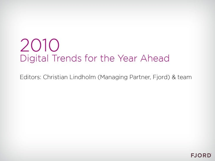 Fjord Trends 2010