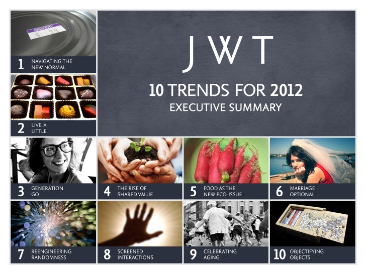 JWT 10 Trends for 2012 Executive Summary
