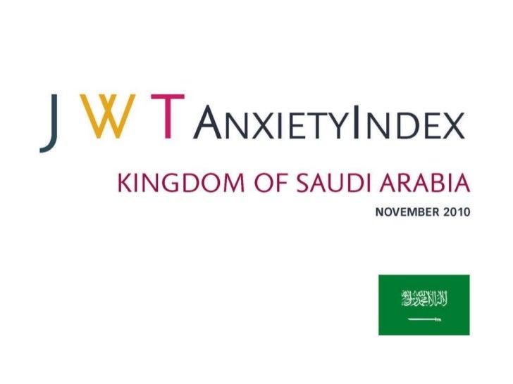 JWT AnxietyIndex: Kingdom of Saudi Arabia (November 2010)
