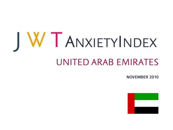 JWT AnxietyIndex: United Arab Emirates (November 2010)
