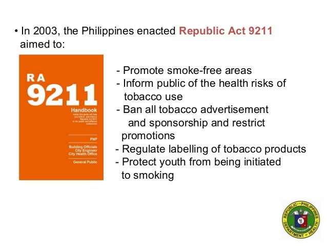all about smoking in the philippines essay The run against smoke which kills near to 90 000 people a twelvemonth in the philippines – on a par with the figure of deceases in natural catastrophes or struggles – is going a losing conflict.